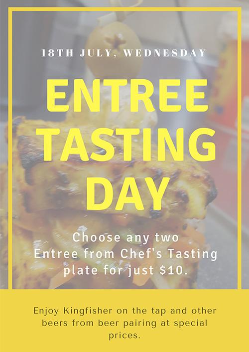 Wed 18th Jul: Entree Tasting