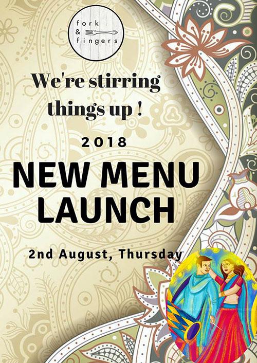 Thu 2nd Aug: New Menu Launch